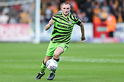 Forest Green Rovers Carl Winchester(7) on the ball during the EFL Sky Bet League 2 match between Cambridge United and Forest Green Rovers at the Cambs Glass Stadium, Cambridge, England on 7 September 2019.