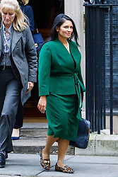 © Licensed to London News Pictures. 10/01/2017. London, UK. International Development Secretary PRITI PATEL attends a cabinet meeting in Downing Street on Tuesday, 10 January 2017. Photo credit: Tolga Akmen/LNP
