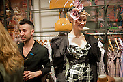 PEPPE LOREFICE; ANNABEL BOLTON, Party to celebrate Royal Ascot. Vivienne Westwood shop. Conduit St. London. 7 April 2011. -DO NOT ARCHIVE-© Copyright Photograph by Dafydd Jones. 248 Clapham Rd. London SW9 0PZ. Tel 0207 820 0771. www.dafjones.com.