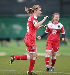 Bristol Academy's Grace McCatty celebrates  - Photo mandatory by-line: Joe Meredith/JMP - Mobile: 07966 386802 - 01/03/2015 - SPORT - Football - Bristol - SGS Wise Campus - Bristol Academy Womens FC v Aston Villa Ladies - Women's Super League