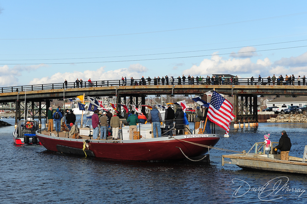 Piscataqua's maiden voyage... approaching the Peirce Island bridge on the way to Prescott Park