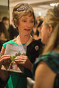 THE DUCHESS OF ARGYLL; LADY DALMANY, The Royal Caledonian Ball 2015. Grosvenor House. Park Lane, London. 1 May 2015.