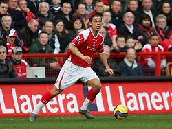London, England - Saturday, February 24, 2007: Charlton Athletic''s Luke Young in action against West Ham United during the Premiership match at the Valley. (Pic by Chris Ratcliffe/Propaganda)