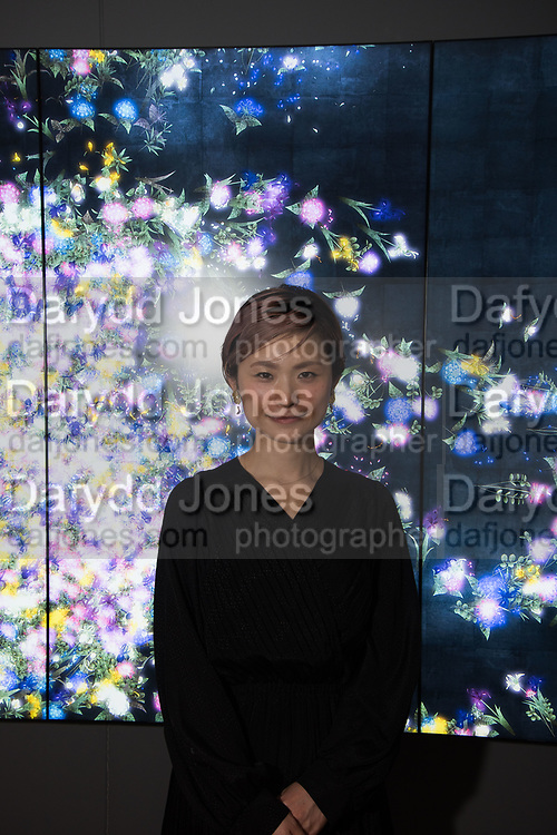 NORIKO, FROM TEAM LAB, Mollie Dent-Brocklehurst and Mark Davy host an evening in celebration of Future/Pace. London SW6, May 22 2018