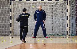 Herman Wirth and Gorazd Skof during the Training Camp before IHF Men's Handball World Championship Spain 2013 on January 9, 2013 in Zrece, Slovenia. (Photo By Vid Ponikvar / Sportida.com)