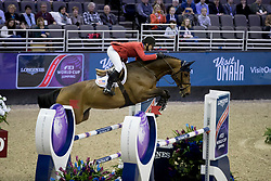 Ward McLain, USA, HH Azur<br /> Round 1<br /> Longines FEI World Cup Jumping Final, Omaha 2017 <br /> © Hippo Foto - Dirk Caremans<br /> 31/03/2017