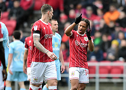 Bobby Reid of Bristol City and Aden Flint of Bristol City talk free kick routine  - Mandatory by-line: Joe Meredith/JMP - 10/02/2018 - FOOTBALL - Ashton Gate Stadium - Bristol, England - Bristol City v Sunderland - Sky Bet Championship