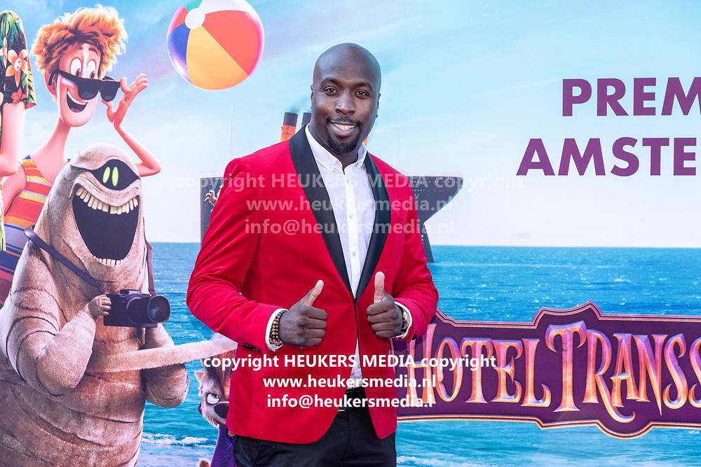2018, 15 Juli. Pathe ArenA, Amsterdam. Premiere van Hotel Transsylvanie 3. Op de foto: Fernando Halman