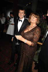 LADY ANNABEL GOLDSMITH and BEN GOLDSMITH at The Diner Des Tsars in aid of Unicef to celebrate the launch of Quintessentially Wine held at the Guildhall, London EC2 on 29th March 2007.<br />