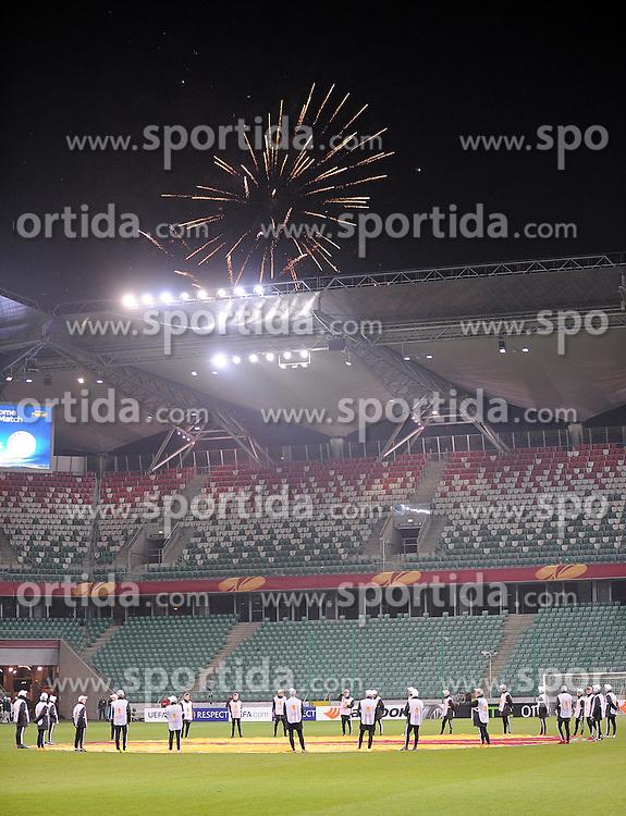 26.02.2015, Pepsi Arena, Warschau, POL, UEFA EL, Legia Warschau vs Ajax Amsterdam, 1. Runde, R&uuml;ckspiel, im Bild PUSTY STADION MECZ BEZ KIBICOW FAJERWERKI DOPING SPOZA STADIONU // during the UEFA Europa League 1st Round, 2nd Leg match between Legia Warschau and Ajax Amsterdam at the Pepsi Arena in Warschau, Poland on 2015/02/26. EXPA Pictures &copy; 2015, PhotoCredit: EXPA/ Newspix/ LUKASZ LASKOWSKI<br /> <br /> *****ATTENTION - for AUT, SLO, CRO, SRB, BIH, MAZ, TUR, SUI, SWE only*****