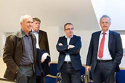 Viktor Vauhnik, Drago Bahun, Srecko Barbic, Branko Krasevec during meeting of Executive Committee of Ski Association of Slovenia (SZS) on March 10, 2014 in SZS, Ljubljana, Slovenia. Photo by Vid Ponikvar / Sportida