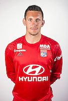 Mathieu Gorgelin during the photocall of Lyon for new season of Ligue 1 on September 22nd 2016 in Lyon<br /> Photo : OL / Icon Sport