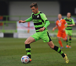 Forest Green Rovers's Elliott Frear  - Photo mandatory by-line: Nizaam Jones - Mobile: 07966 386802 - 14/03/2015 - SPORT - Football - Nailsworth - The New Lawn - Forest Green Rovers v Braintree  - Vanarama Football Conference.