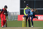 Helen Fenby during the Vitality T20 Blast North Group match between Lancashire Thunder and Yorkshire Vikings at Liverpool Cricket Club, Liverpool, United Kingdom on 13 August 2019.