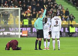 January 27, 2018 - Metz, France - Balotelli Mario  carton jaune (Credit Image: © Panoramic via ZUMA Press)