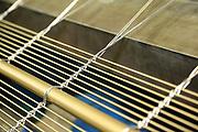 D&uuml;ren. 15.03.17 | BILD- ID 035 |<br /> GKD - Gebr. Kufferath AG. Metallfassade f&uuml;r die Neue Mannheimer Kunsthalle.<br /> Das Unternehmen in D&uuml;ren produziert Fassaden f&uuml;r die Architektur aus Metall. Ein gewebtes Metallgitter wird von Aussen an die Fassade montiert. <br /> Kunsthallendirektorin Dr. Ulrike Lorenz besucht das Unternehmen in D&uuml;ren und freut sich &uuml;ber die technische Umsetzung mit einer speziell goldenen Pigmentierung der Edelstahlstreben.<br /> Bild: Markus Prosswitz 15MAR17 / masterpress (Bild ist honorarpflichtig - No Model Release!)