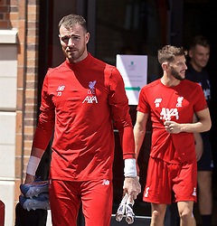 SOUTH BEND, INDIANA, USA - Tuesday, July 16, 2019: Liverpool's goalkeeper Andy Lonergan departs the team hotel in South Bend for their first training session at the start of the club's pre-season tour of America. (Pic by David Rawcliffe/Propaganda)