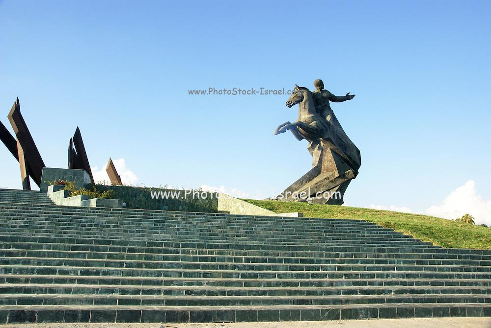 Statue of Antonio Maceo on Revolution Square. Santiago de Cuba,Cuba