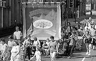 Thurcroft Branch banner. 1992 Yorkshire Miners Gala, Barnsley.