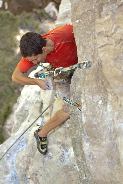 Rock Climbing - Sam Lambert on Nobody's  Girl - 5.12a at Lake Louise
