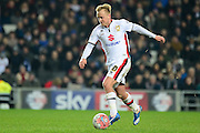 MK Dons midfielder Ben Reeves during the The FA Cup Third Round Replay match between Milton Keynes Dons and Northampton Town at stadium:mk, Milton Keynes, England on 19 January 2016. Photo by Dennis Goodwin.