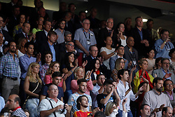 10.09.2014, Palacio de los deportes, Madrid, ESP, FIBA WM, Frankreich vs Spanien, Viertelfinale, im Bild Spain´s supporter Juan Felipe Froilan and Elena de Borbon infant // during FIBA Basketball World Cup Spain 2014 Quarter-Final match between France and Spain at the Palacio de los deportes in Madrid, Spain on 2014/09/10. EXPA Pictures © 2014, PhotoCredit: EXPA/ Alterphotos/ Victor Blanco<br /> <br /> *****ATTENTION - OUT of ESP, SUI*****