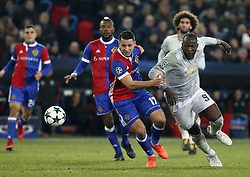 Manchester United Romelu Lukaku (R) and Basel's Marek Suchy during the UEFA Champions League group A match between Basel and Manchester United in Basel, Switzerland, November 22, 2017. Basel won 1-0. (Credit Image: © Ruben Sprich/Xinhua via ZUMA Wire)