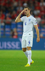 England's Jordan Henderson (Liverpool) - Photo mandatory by-line: Joe Meredith/JMP - Mobile: 07966 386802 - 08/09/14 - SPORT - FOOTBALL - Switzerland - Basel - St Jacob Park - Switzerland v England - Uefa Euro 2016 Group E Qualifier