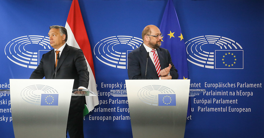 Martin SCHULZ - EP President meets with Viktor ORBAN - Prime Minister of Hungary