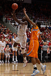 Dec 20, 2011; Stanford CA, USA;  Stanford Cardinal forward Chiney Ogwumike (13) shoots past Tennessee Lady Volunteers forward/center Vicki Baugh (21) during the second half at Maples Pavilion.  Stanford defeated Tennessee 97-80. Mandatory Credit: Jason O. Watson-US PRESSWIRE