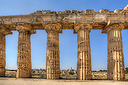 Photo of a Greek temple at Selinunte, Sicily, Italy