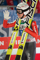 06.01.2015, Paul Ausserleitner Schanze, Bischofshofen, AUT, FIS Ski Sprung Weltcup, 63. Vierschanzentournee, Finale, im Bild Simon Ammann (SUI) // Simon Ammann of Switzerland reacts after his first competition Jump of 63rd Four Hills Tournament of FIS Ski Jumping World Cup at the Paul Ausserleitner Schanze, Bischofshofen, Austria on 2015/01/06. EXPA Pictures © 2015, PhotoCredit: EXPA/ Johann Groder
