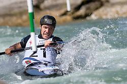 Martin HALCIN of Slovakia during the Kayak Single (MK1) Mens Semi Final race of 2019 ICF Canoe Slalom World Cup 4, on June 30, 2019 in Tacen, Ljubljana, Slovenia. Photo by Sasa Pahic Szabo / Sportida