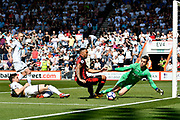 Callum Wilson (13) of AFC Bournemouth goes close to scoring a goal during the Premier League match between Bournemouth and Swansea City at the Vitality Stadium, Bournemouth, England on 5 May 2018. Picture by Graham Hunt.