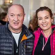 NLD/Rotterdam/20170319 - inloop De Marathon de Musical, henk Poort en partner Marjolein Keuning