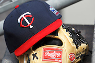 April 29, 2010:  Twins hat and glove during the MLB baseball game between the Minnesota Twins vs Detroit Tigers at  Comerica Park in Detroit, Michigan.