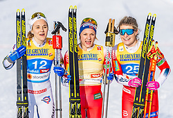 21.02.2019, Langlauf Arena, Seefeld, AUT, FIS Weltmeisterschaften Ski Nordisch, Seefeld 2019, Langlauf, Damen, Sprint, im Bild v.l. Stina Nilsson (SWE), Maiken Caspersen Falla (NOR), Mari Eide (NOR) // f.l. Stina Nilsson of Sweden Maiken Caspersen Falla of Norway and Mari Eide of Norway during the ladie's Sprint competition of the FIS Nordic Ski World Championships 2019. Langlauf Arena in Seefeld, Austria on 2019/02/21. EXPA Pictures © 2019, PhotoCredit: EXPA/ Stefan Adelsberger