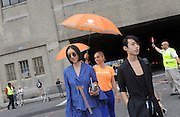 Eva Chen  - former Lucky Magazine editor at New York Fashion Week