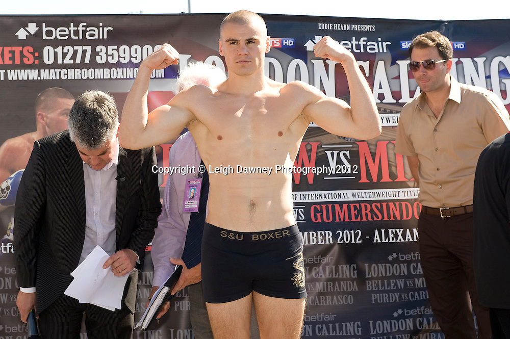 The Weigh In at Alexandra Palace, Muswell Hill, North London on Friday 7th September 2012. Matchroom Sport. Pictures ©Leigh Dawney Photography 2012.
