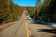 Snow along Perkinsville road - AZ