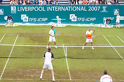 Liverpool, England - Saturday, June 16, 2007: Legends Doubles in action on day five of the Liverpool International Tennis Tournament at Calderstones Park. For more information visit www.liverpooltennis.co.uk. (Pic by David Rawcliffe/Propaganda)