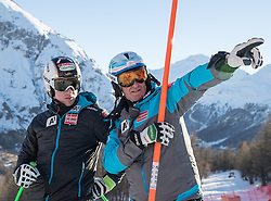 03.12.2016, Val d Isere, FRA, FIS Weltcup Ski Alpin, Val d Isere, Abfahrt, Herren, Streckenbesichtigung, im Bild Hannes Reichelt (AUT), Andreas Puelacher (Sportlicher Leiter ÖSV Ski Alpin Herren) // Hannes Reichelt of Austria, Andreas Puelacher Austrian Ski Association head Coach alpine Men's during the course inspection for the men's downhill of the Val d Isere FIS Ski Alpine World Cup.. Val d'Isere, France on 2016/12/03. EXPA Pictures © 2016, PhotoCredit: EXPA/ Johann Groder