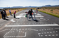 Airmarking Grapevine airport near Roosevelt Lake with Arizona Pilot Assoc. members and Phoenix 99s