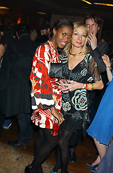 Left to right, SUSAN BENDER and LADY JASMINE STOCKDALE at a party hosted by Daniella Helayel of fashion label ISSA held at Taman Gang, 141 Park Lane, London on 15th February 2006.<br /><br />NON EXCLUSIVE - WORLD RIGHTS