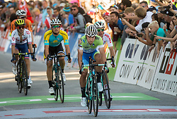 Arrival of Primoz Roglic of Slovenia at the Men Elite Road Race at 258.5km Race from Kufstein to Innsbruck 582m at the 91st UCI Road World Championships 2018 / RR / RWC / on September 30, 2018 in Innsbruck, Austria. Photo by Vid Ponikvar / Sportida