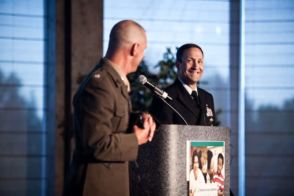 Marine Colonel Mark Mykleby and Navy Captain Wayne Porter lead the National Strategic Narrative session at the National Rural Assembly on Tuesday, June 27, 2011.
