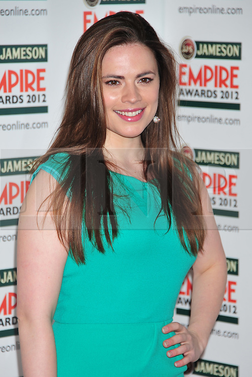 © Licensed to London News Pictures. 25/03/2012. London, England. Hayley atwell attends the  Jameson Empire Awards held at the Grosvenor Hotel London  Photo credit : ALAN ROXBOROUGH/LNP