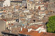 Vue sur les toits de Bordeaux depuis les hauteurs de la tour Pey Berland // View of roofs of Bordeaux center town from Pey-Berland tower
