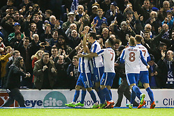 Goal, Anthony Knockaert of Brighton & Hove Albion scores, Brighton & Hove Albion 1-0 Derby County - Mandatory by-line: Jason Brown/JMP - 10/03/2017 - FOOTBALL - Amex Stadium - Brighton, England - Brighton and Hove Albion v Derby County - Sky Bet Championship
