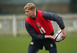 Aaron Chapman of England Under 20s - Mandatory by-line: Robbie Stephenson/JMP - 09/01/2018 - RUGBY - England U20 - Training session ahead of Six Nations